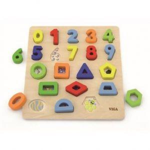 Ξύλινη βάση με σφηνώματα αριθμών