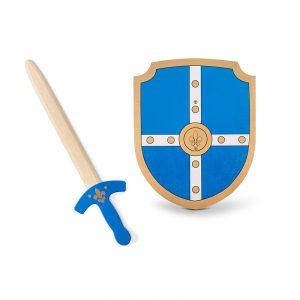 ξύλινο σπαθί και ασπίδα