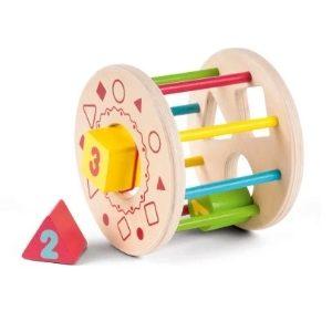 Gerardo's Toys Ξύλινος Κύλινδρος Με Ταξινόμηση Σχημάτων