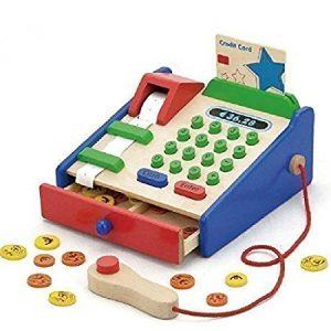 Ξύλινη παιδικη ταμειακή μηχανή