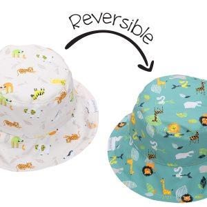 Καπέλο Διπλής Όψης UPF 50+ - Grey Zoo