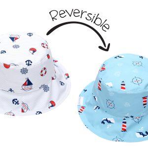 Καπέλο Διπλής Όψης UPF 50+ - Nautical