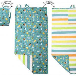 Πετσέτα Παραλίας Backpack - Green Zoo