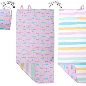 Πετσέτα Παραλίας Backpack - Narwhal/Starfish