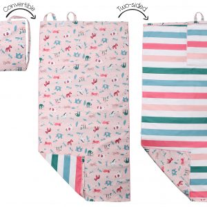 Η Πετσέτα Παραλίας Backpack - Pink Zoo