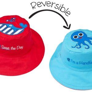 Καπέλο Διπλής Όψης UPF 50+ - Φάλαινα (Cotton)