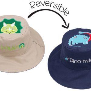 Καπέλο Διπλής Όψης UPF 50+ - Δεινόσαυρος (Cotton)