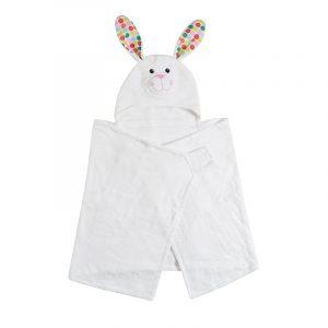 Tο μικρο σας θα είναι στεγνό και πάρα πολύ γλυκό μετά το μπάνιο του ή μετά την πισίνα, με την απορροφητική Παιδική Πετσέτα Bella The Bunny.