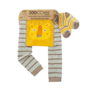 Grip+Easy Crawler Pants & Socks Set - Leo the Lion