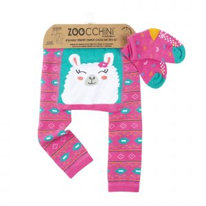 Grip+Easy Crawler Pants & Socks Set Laney the Llama