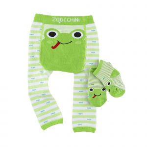 Grip+Easy Crawler Pants & Socks Set Flippy the Frog