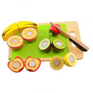 Ξύλινα φρούτα με σετ κοπής