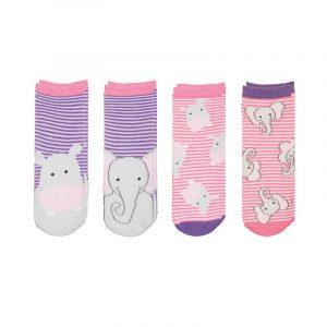 FlapJackKids Mix and Match Socks - Hippo/Elephant